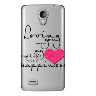 Snooky Printed Happiness Mobile Back Cover of Vivo Y22 - Multicolour