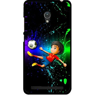 Snooky Printed High Kick Mobile Back Cover For Asus Zenfone 5 - Multicolour