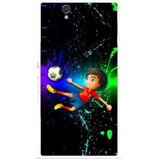 Snooky Printed High Kick Mobile Back Cover For Sony Xperia Z - Multicolour