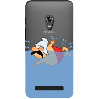 Snooky Printed Swimmer Mobile Back Cover of Asus Zenfone 5 - Multicolour