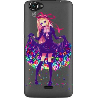 Snooky Printed Fashion Queen Mobile Back Cover of Micromax Bolt Q338 - Multicolour