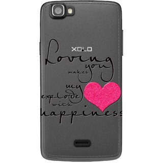 Snooky Printed Happiness Mobile Back Cover of Xolo One - Multicolour