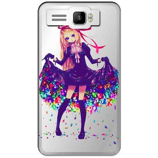 Snooky Printed Fashion Queen Mobile Back Cover of Intex Aqua R3 Plus - Multicolour