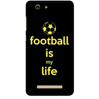 Snooky Printed Football Is Life Mobile Back Cover For Gionee F103 pro - Multi