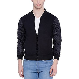Campus Sutra Men Black Full Sleeve Jacket