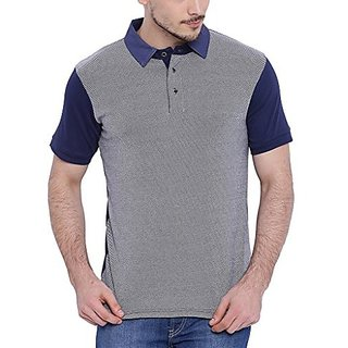 Campus Sutra Mens Polo Neck T-shirt
