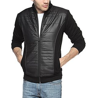 Campus Sutra Black Mens cotton Jacket