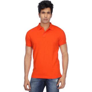 KETEX Orange Slim Fit Polo T Shirt
