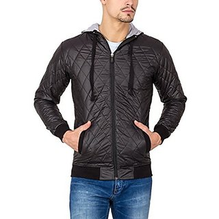 Campus Sutra Black Mens Jacket