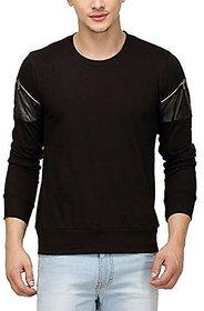 Campus Sutra Men Full Sleeve Arm Zip T-Shirt