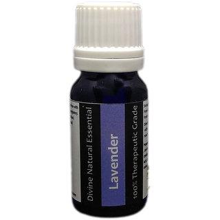Divine Natural Essentials Lavender Essential Oil, 100% Pure, Undiluted, Aromatherapy, Skincare, Therapeutic Grade. 10 ml