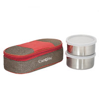 Sellebrity Royal Red-Brown Lunchbox-2 Steel Container