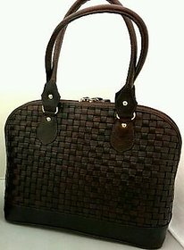Ladies Leather Hand Bag Black