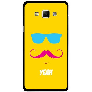 Snooky Printed Yeah Mobile Back Cover For Samsung Galaxy E7 - Multicolour