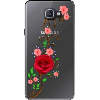 Snooky Printed Rose Mobile Back Cover of Samsung Galaxy A9 Pro - Multicolour