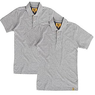 Campus Sutra Mens Polo (Pack of 2) (Grey)