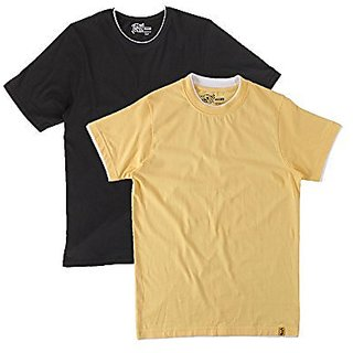 Campus Sutra Mens Round Neck T-Shirt (Pack of 2) (Multi-Coloured)