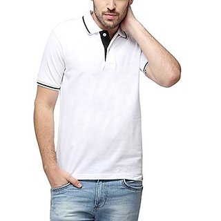 Campus Sutra Men Polo Neck With Tipping T-Shirt