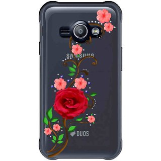 Snooky Printed Rose Mobile Back Cover of Samsung Galaxy Ace J1 - Multicolour