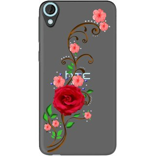 Snooky Printed Rose Mobile Back Cover of HTC Desire 820 - Multicolour