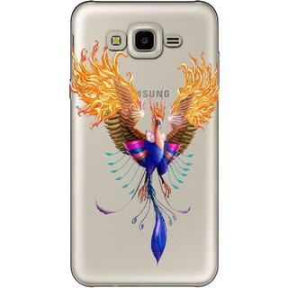 Snooky Printed Bird Mobile Back Cover of Samsung Galaxy J7 - Multicolour