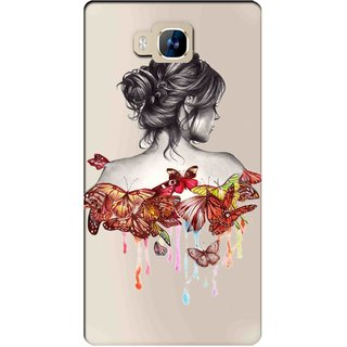 Snooky Printed Painting Mobile Back Cover of LYF Wind 2 - Multicolour