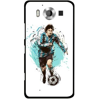 Snooky Printed Have To Win Mobile Back Cover For Microsoft Lumia 950 - Multicolour