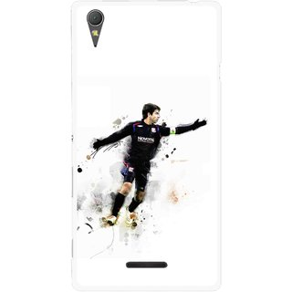 Snooky Printed Pass Me Mobile Back Cover For Sony Xperia T3 - Multicolour