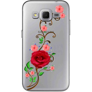 Snooky Printed Rose Mobile Back Cover of Samsung Galaxy Core Prime - Multicolour