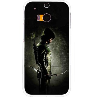 Snooky Printed Hunting Man Mobile Back Cover For HTC One M8 - Multicolour