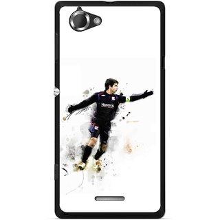 Snooky Printed Pass Me Mobile Back Cover For Sony Xperia L - Multicolour