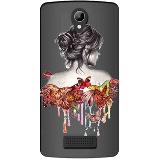 Snooky Printed Painting Mobile Back Cover of LYF Wind 3 - Multicolour