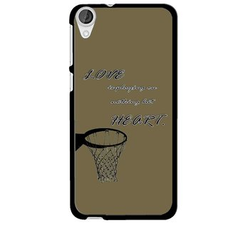 Snooky Printed Heart Games Mobile Back Cover For HTC Desire 820 - Multi