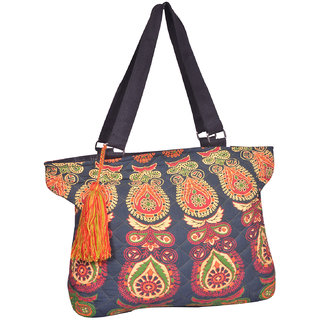 Flowers Brown Hand Bag