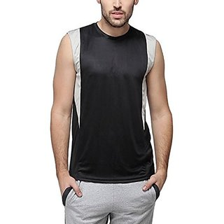 Campus Sutra Men Sleeveless Side Design Dry-Fit Jersey