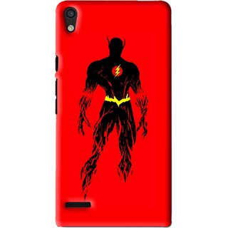 Snooky Printed Electric Man Mobile Back Cover For Huawei Ascend P6 - Red