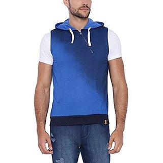 Campus Sutra Men Blue Sweatshirt