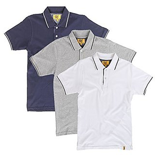 Campus Sutra Mens Polo (Pack of 3) (Multi-Coloured)