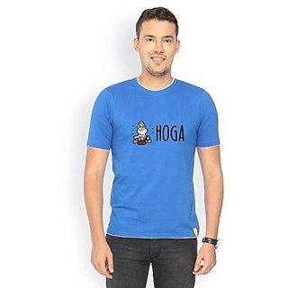 Campus Sutra Royal Blue RIB Tshirt Hoga