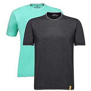 Campus Sutra Men Rib Neck T-Shirt Combo Of 2