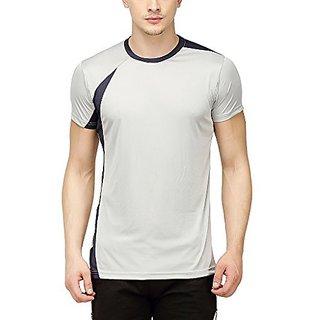 Campus Sutra Men Odourless Half Sleeve Round Neck Grey Dryfit Jersey