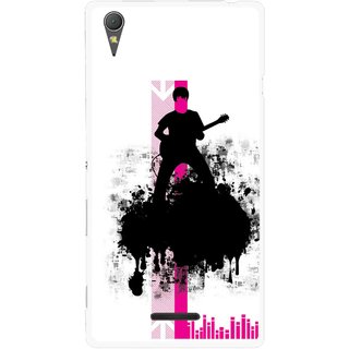 Snooky Printed Music In Air Mobile Back Cover For Sony Xperia T3 - Multicolour