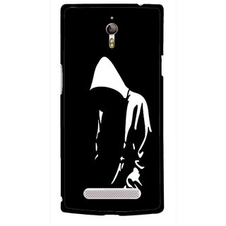 Snooky Printed Thinking Man Mobile Back Cover For Oppo Find 7 - Multicolour