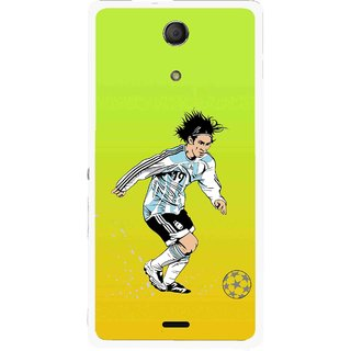 Snooky Printed Focus Ball Mobile Back Cover For Sony Xperia ZR - Multicolour