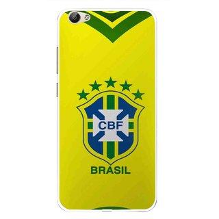 Snooky Printed Brasil Mobile Back Cover For Vivo Y55 - Multi