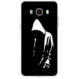 Snooky Printed Thinking Man Mobile Back Cover For Samsung Galaxy J5 (2016) - Multicolour