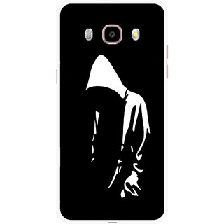 Snooky Printed Thinking Man Mobile Back Cover For Samsung Galaxy J7 (2016) - Multicolour
