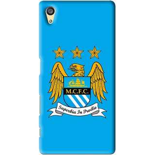 Snooky Printed Eagle Logo Mobile Back Cover For Sony Xperia Z5 - Blue