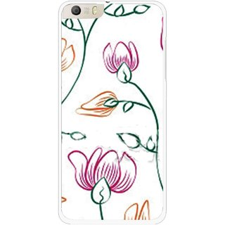 Snooky Printed Flower Sketch Mobile Back Cover For Micromax Canvas Knight 2 E471 - Multi