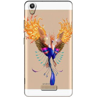 Snooky Printed Bird Mobile Back Cover of Lava V1 Pixel - Multicolour